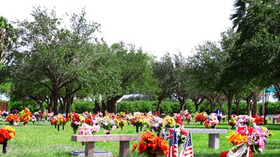 Cemetery grounds at Palm Valley Memorial Gardens