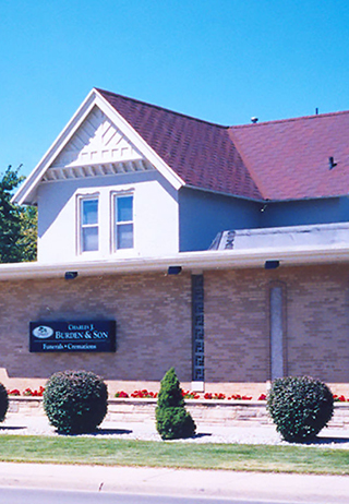 Front exterior at Chas. J. Burden & Son Funeral Home