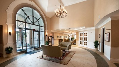 Lobby at JA Snow Funeral Home