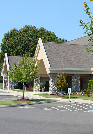 Front exterior at Mills & Mills Funeral Home