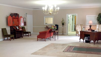 Lobby area at Kilgroe Funeral Home