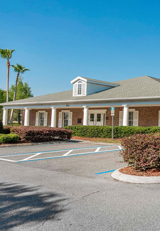 Front exterior at Baldwin Fairchild Funeral Home