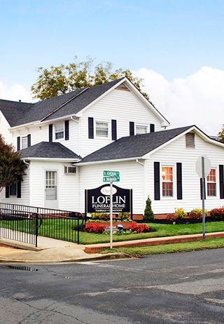 Front exterior at Loflin Funeral Home