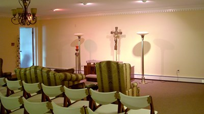 Visitation room at Michael J. Higgins Funeral Service Inc.