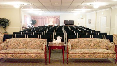 Large chapel at Spadaccino and Leo P. Gallagher & Son Community Funeral Home