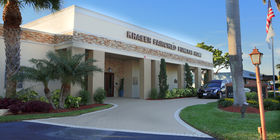 Front exterior building at Kraeer-Fairchild Funeral Home and Cremation Center