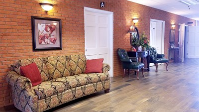 Main lobby at Pendry's Lenoir Funeral Home