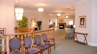 Sitting area at Oshawa Funeral Home