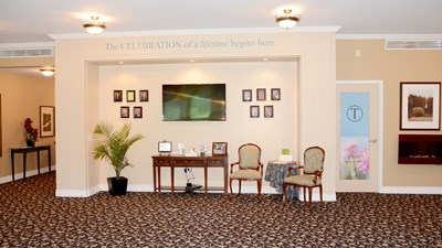 Lobby at Thompson Funeral Home