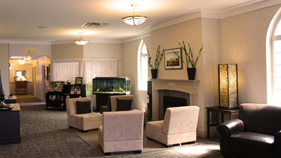 Sitting area at Piercy's - Mt. Washington Funeral Home