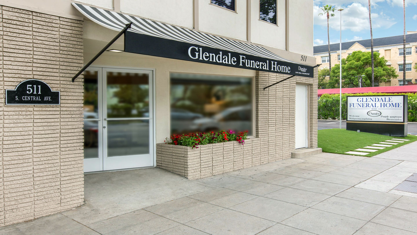 Front exterior at Glendale Funeral Home
