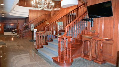 Staircase at Chapel at Delmoro Funeral Home