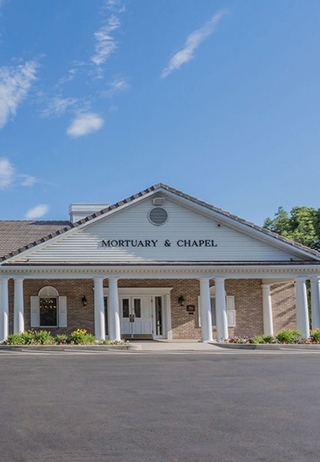Front exterior at Wasatch Lawn Mortuary