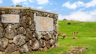 Hawaiian Memorial Park Entrance