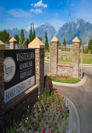 Entrance at Wasatch Lawn Memorial Park South Valley