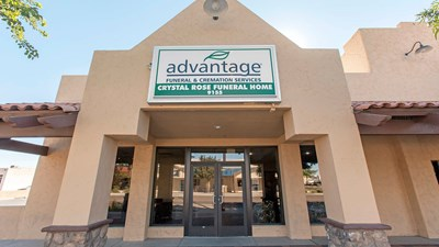 Front Exterior of Advantage Crystal Rose Funeral Home