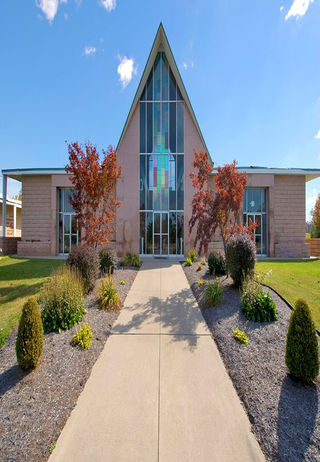 Front Exterior of chapel at Miami Valley Memorial Gardens.
