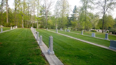 Cemetery Grounds with Granite Markers at Forest Hills/Shalom Memorial Park