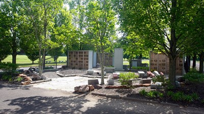 Cremation Garden exterior view at Whitemarsh Memorial Park