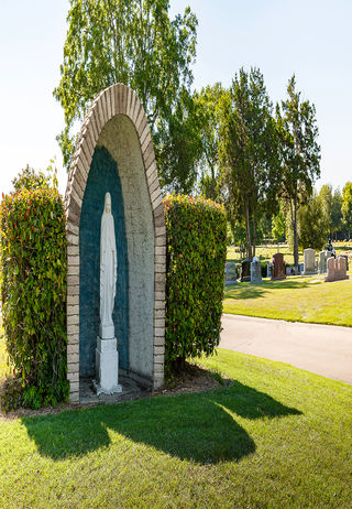 Special Garden Feature at Sacred Heart Cemetery