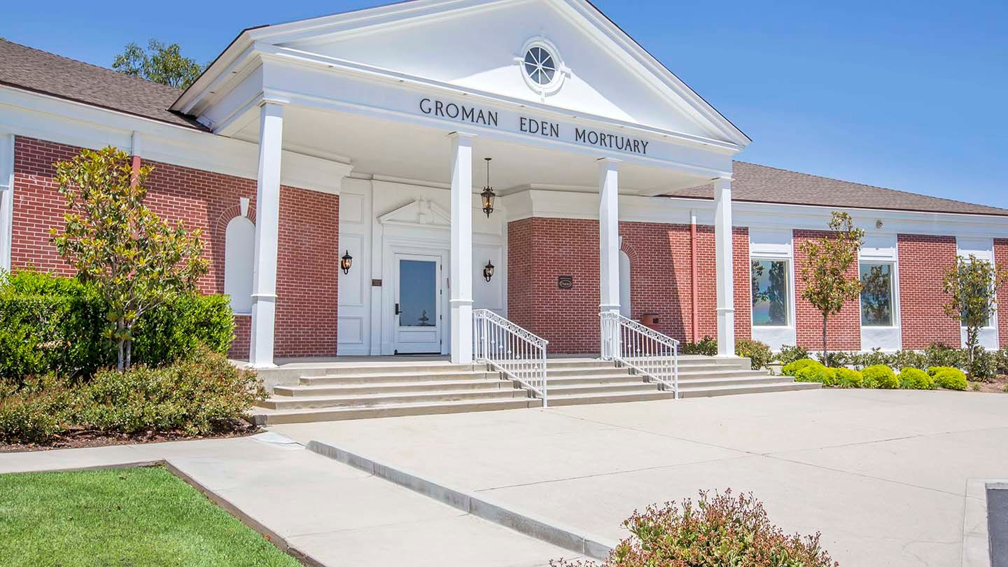 Front Exterior at Groman Eden Mortuary