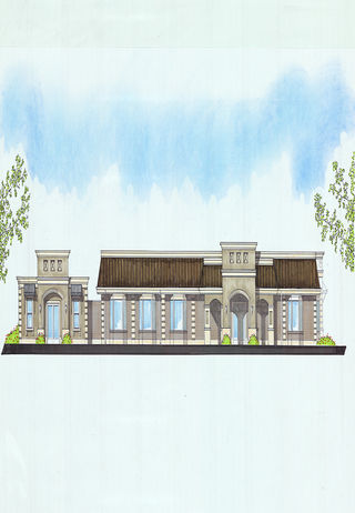 Rendering of future renovations of the exterior at Blount & Curry Funeral Home-MacDill Chapel