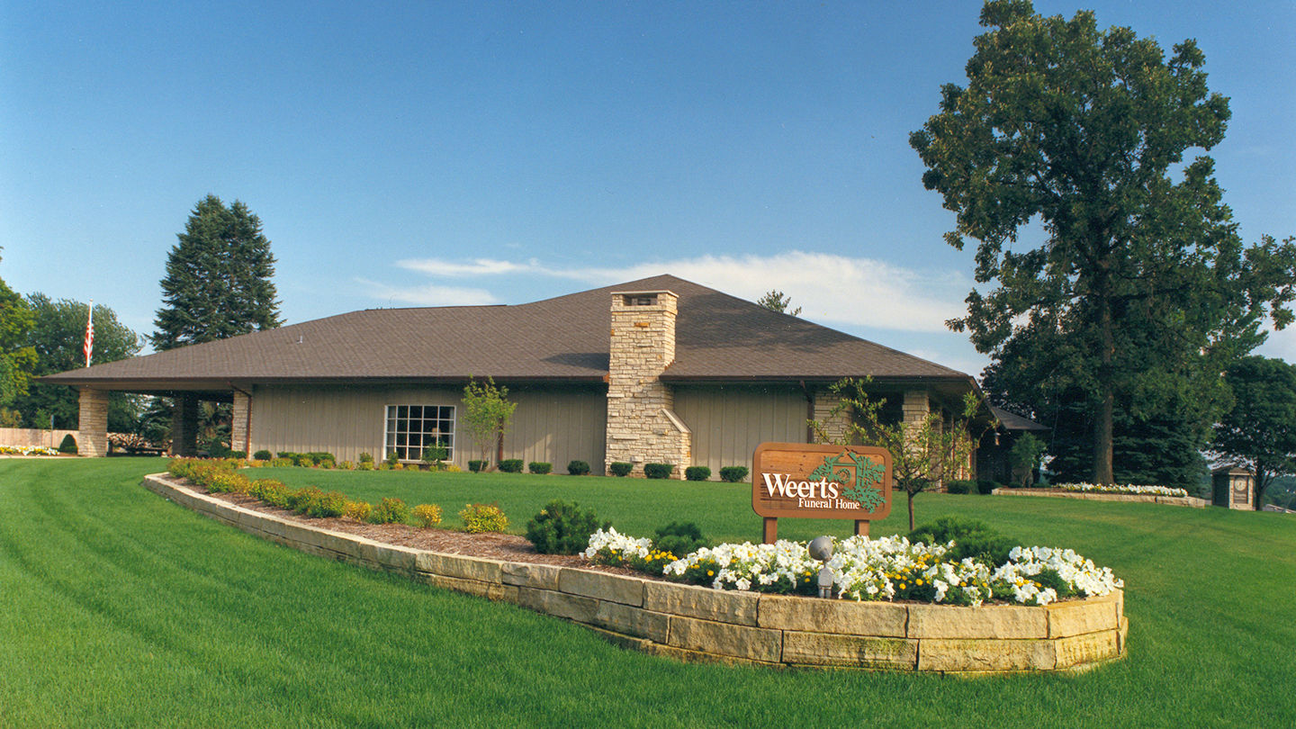 Front Exterior at Weerts Funeral Home