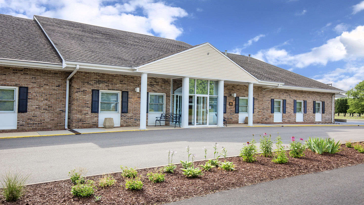 Front exterior at Sunset Funeral Home