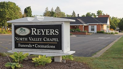 Signage of Reyers North Valley Chapel
