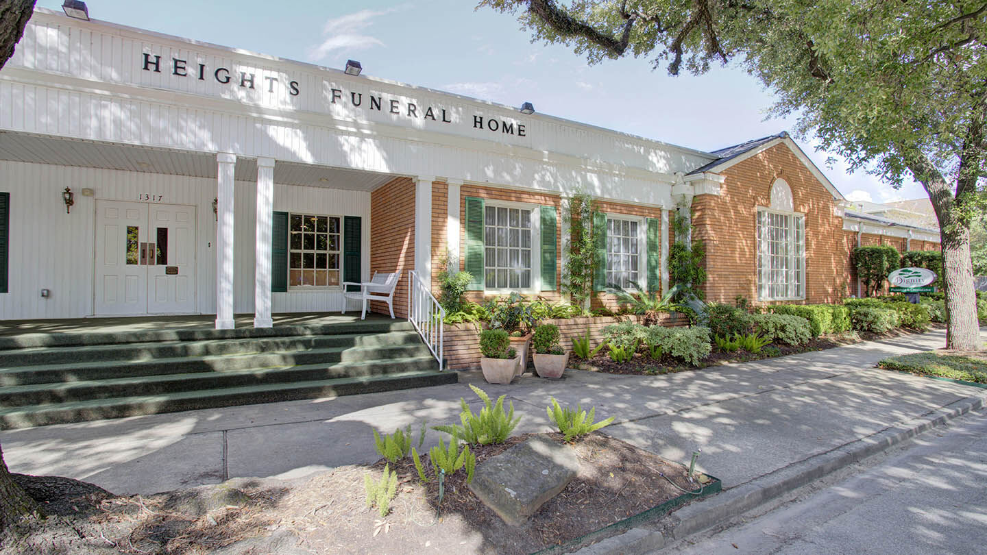Front Exterior at Heights Funeral Home