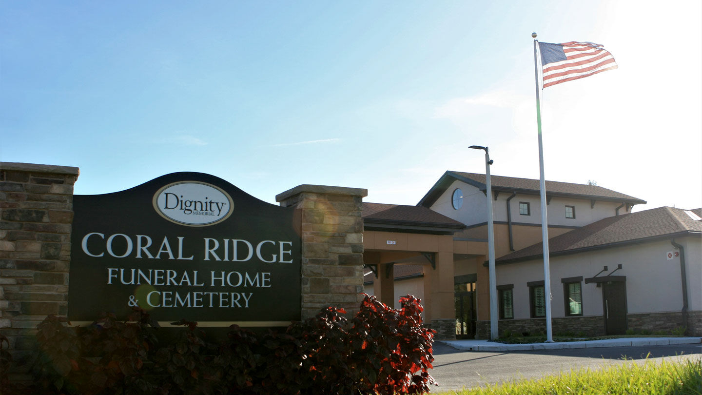 Front Exterior and Signage at Coral Ridge Funeral Home