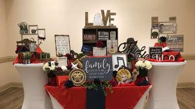 Life Story Memorial Table at Coral Ridge Funeral Home