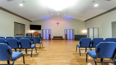 Chapel at Carothers Funeral Home at Gaston Memorial Park