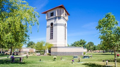 Cemetery grounds at Phoenix Memorial Park and Mortuary