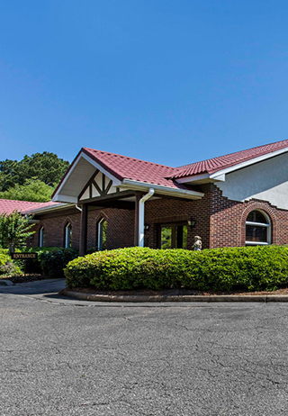 Front exterior at Parkway Funeral Home