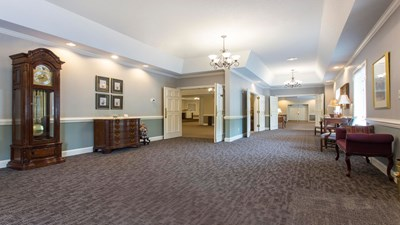Lobby at Mitchell Funeral Home at Raleigh Memorial Park