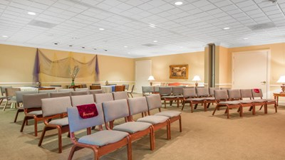 Chapel at Blount and Curry Funeral Home Oldsmar West Hillsborough Chapel