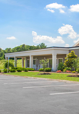 Special Exterior to Front exterior of Berry Highland South Funeral Home