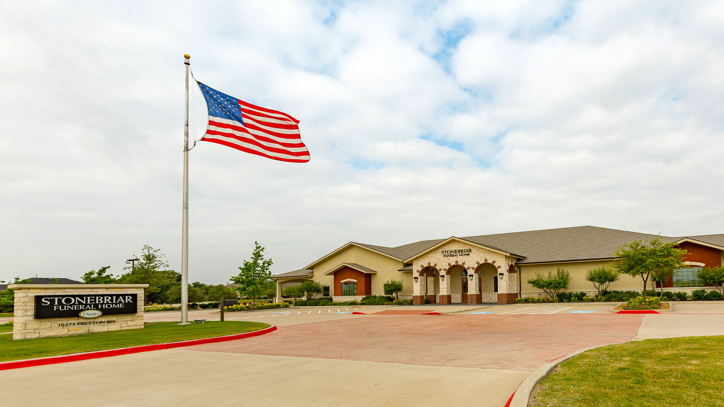 Front exterior at Stonebriar Funeral Home and Cremation Services