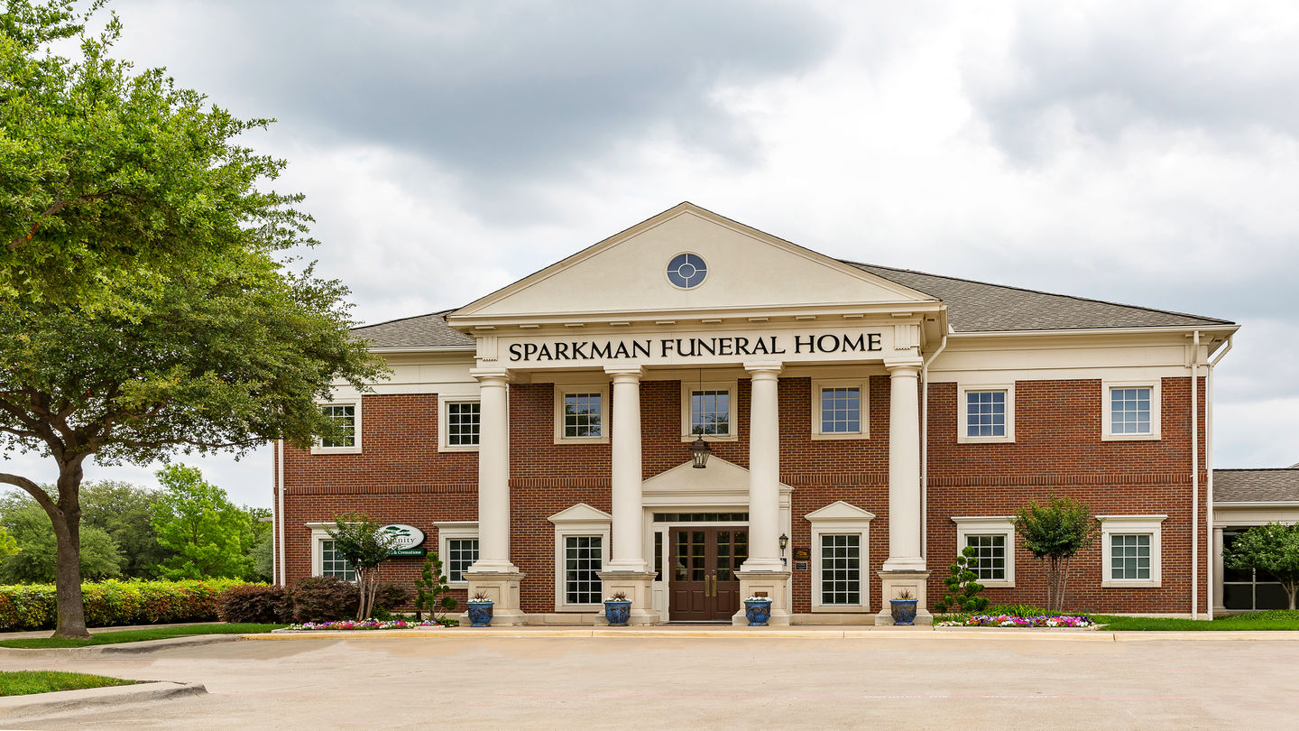 Front exterior building at Sparkman Funeral Home & Cremation Services