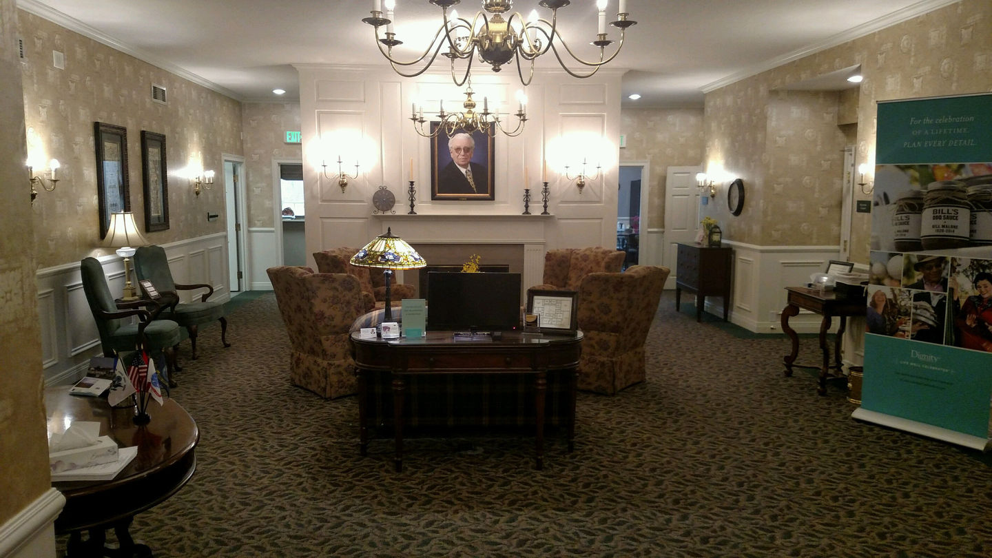 Lobby at Hockemeyer & Miller Funeral Home