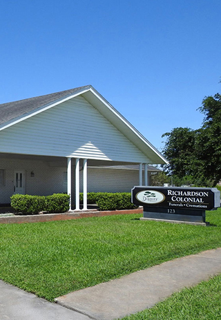 Front exterior at Richardson-Colonial Funeral Home
