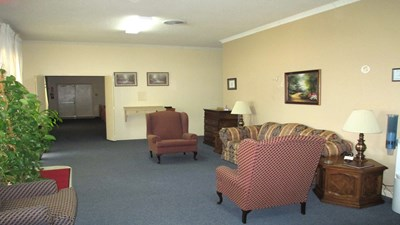 Sitting area at Smith Funeral Home