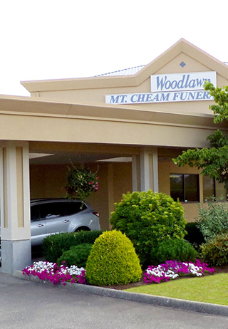 Front exterior building at Woodlawn Mt. Cheam Funeral Home