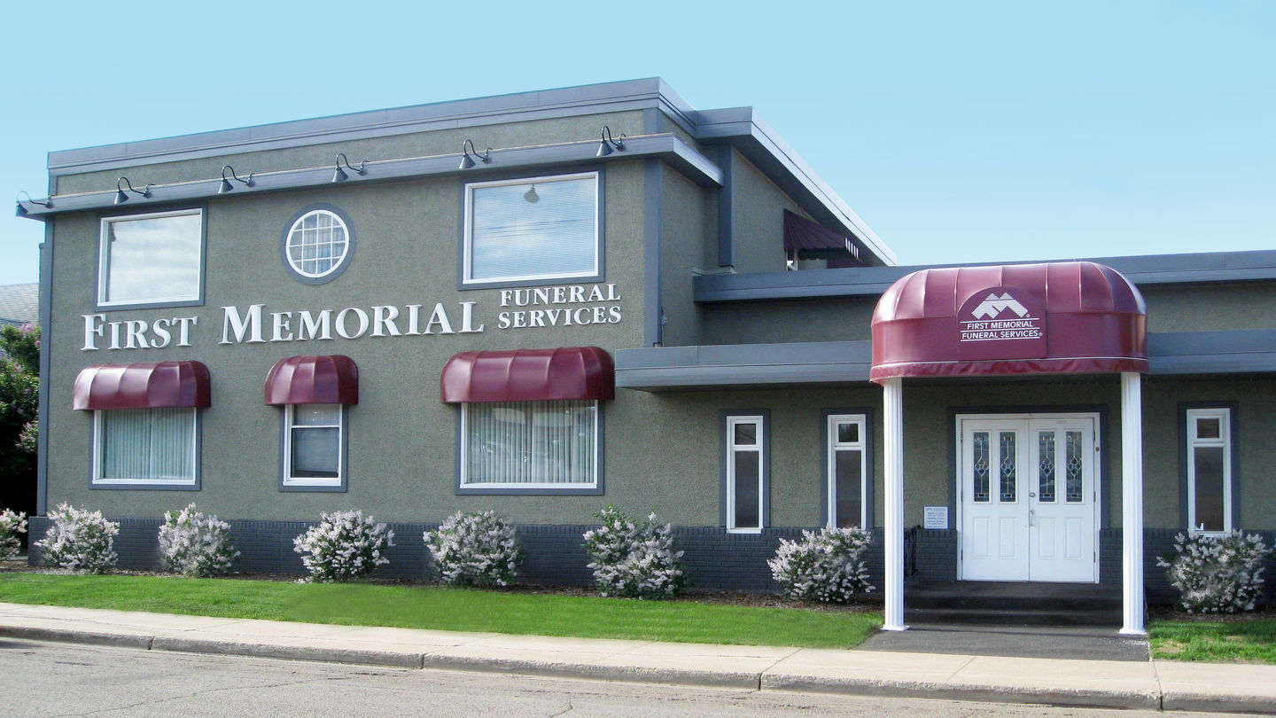 Front exterior building at First Memorial Funeral Services - Harmony Chapel