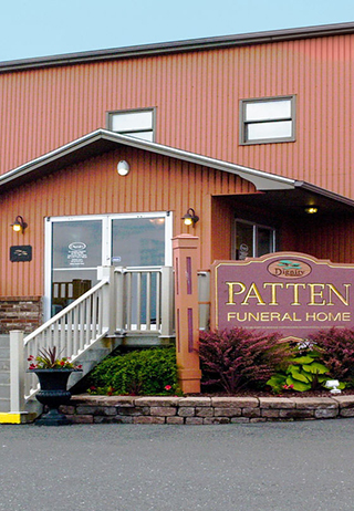 Front exterior building at Patten Funeral Home
