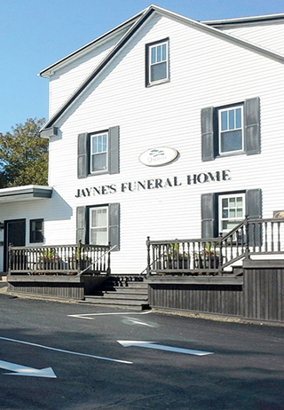 Front exterior building at Jaynes Funeral Home