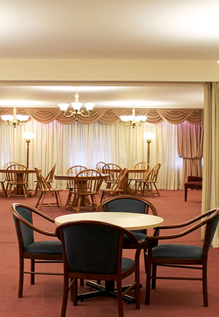 Reception lounge at Trull Funeral Home & Cremation Centre