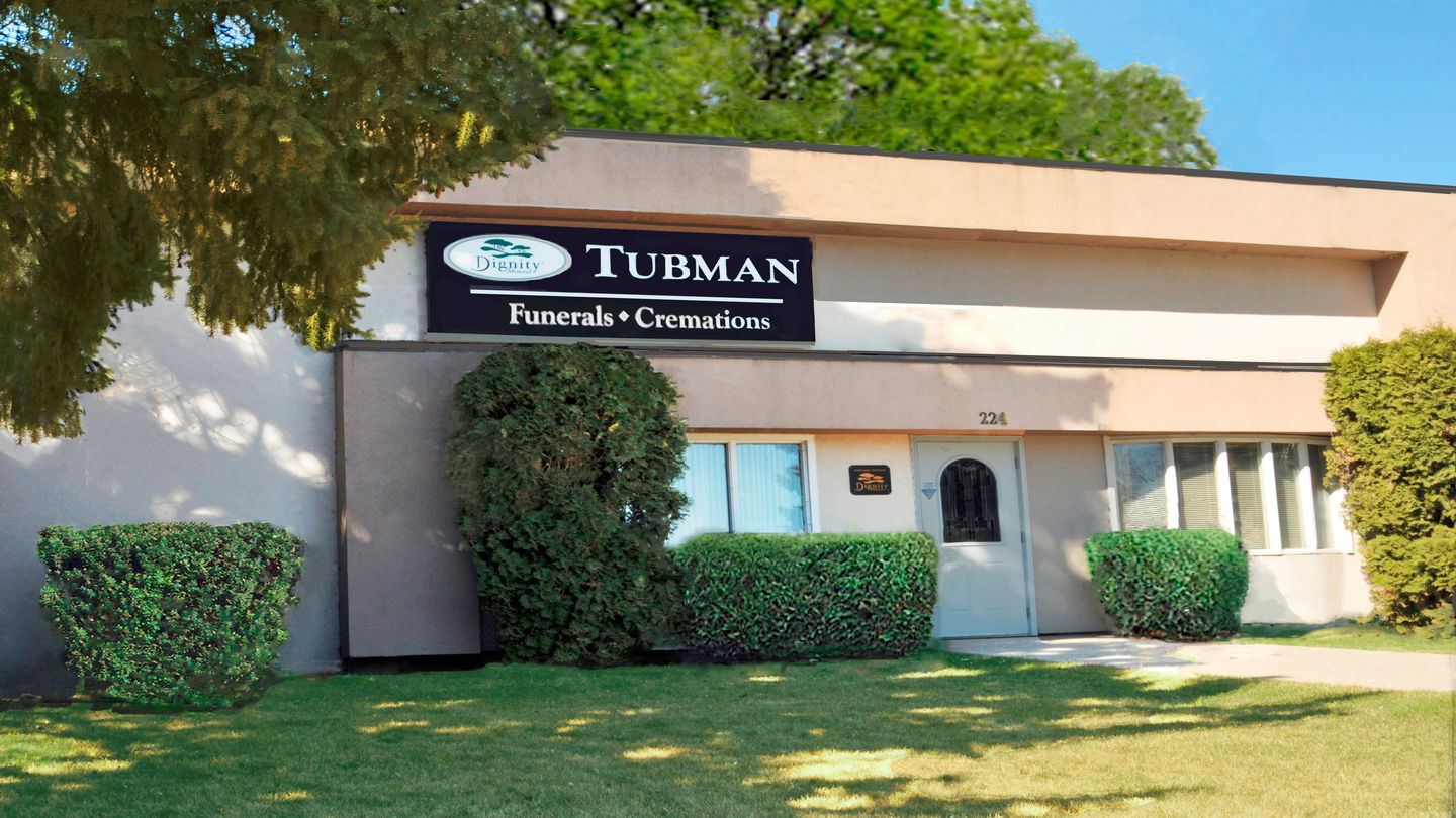 Front exterior at Tubman Funeral Home