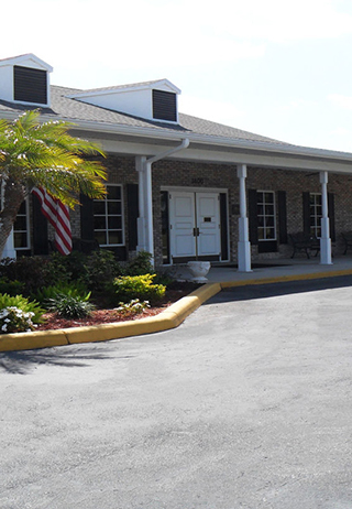 Front exterior building at Groover Funeral Home